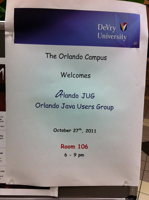 OrlandoJUG Oct 2011 meeting