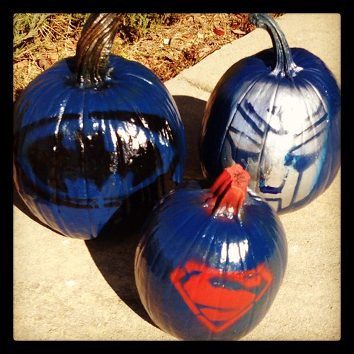 Superhero Pumpkins. Here to protect the city and the universe.