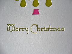 Pear Tree Letterpress Holiday Card