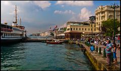 Ortaky (guillenperez) Tags: sea port turkey puerto harbor boat mar fisherman barco turkiye barrio turquia beyoglu pescador marmara ortakoy ortaky burough iskelesi