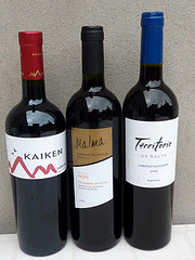 Tres invitados- tres Cabernet Sauvignon