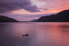 The early sunrise at Ullswater (Jo_Krazy) Tags: morning sky mountains rock clouds reflections tripod lakes filter neutral colorphotoaward desinty canoneos60d sigmawidelens1020mm