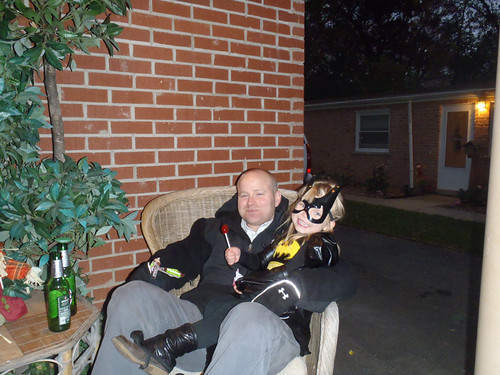 Vivianne and Dad, Halloween Night!