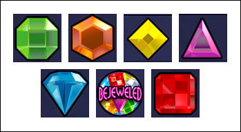 free Bejeweled slot game symbols