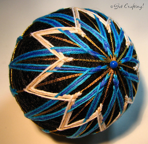 Temari - finishing the 16 point star