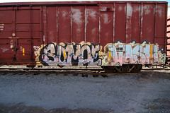 SUMOE  VASH (TRUE 2 DEATH) Tags: street railroad streetart art train graffiti tag graf trains railcar mf spraypaint dts railways railfan freight vash freighttrain gy rollingstock sumoe benching freighttraingraffiti