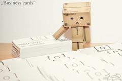 Business cards (Oliver Totzke) Tags: 2 canon toy 50mm mark f14 days ii 5d 365 usm ef danbo revoltech danboard 5dmk2 5dmark2