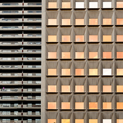 Buildings (Carl Carl) Tags: windows light abstract man detail calgary lines architecture composition square smallman