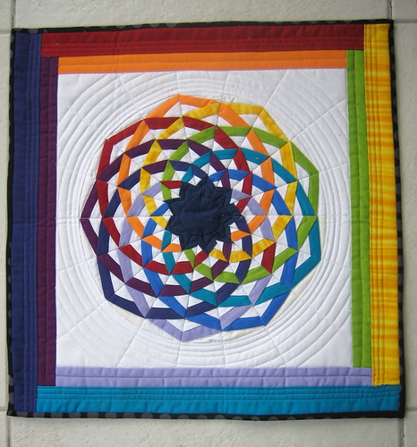 "The quilt I got from Julie for the ""Little Quilt - Sew, Vote, and Swap group""."