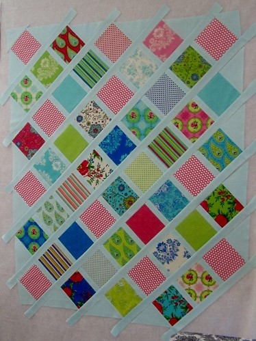 Summer House baby quilt in progress