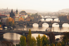 bridges of prague (Dennis_F) Tags: city bridge autumn fall zeiss river prague sony capital herbst bridges prag charles praha tschechien most stadt getty czechrepublic fullframe dslr fluss vltava 135mm karluv brücken karls moldau karlův pragueview karlsbrücke 13518 a850 ceskárepublika sonyalpha sonydslr vollformat cz135 zeiss135 bridgesprague dslra850 sonya850 sonyalpha850 alpha850 sony135 sonycz135 pragerbrücken prahaview pragaussicht