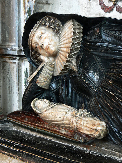 Elizabeth Williams  jacobean monument effigy