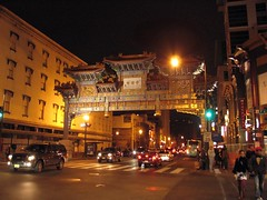 Chinatown, Washington, DC (blmiers2) Tags: street city light vacation people urban night canon photography golden dc washington other chinatown powershot g6 2011 explored blm18 blmiers2