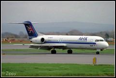 G-UKFH MAN (Zippy's Revenge) Tags: man airplane manchester airport aircraft aviation f100 aeroplane airline avp airliner fokker ringway fokker100 egcc airuk viewingpark ripoffpark gukfh