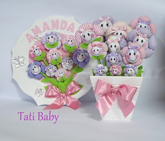 Encomenda para a mame Fran!!!! (Tati Baby) Tags: rosa margarida vaso lils cachepo quadromaternidade