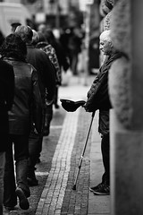 the guy with the cap (Dennis_F) Tags: street city people zeiss walking prague sony poor praha beggar stadt fullframe dslr 135mm strase 13518 a850 sonyalpha sonydslr vollformat cz135 zeiss135 dslra850 sonya850 sonyalpha850 alpha850 sony135 sonycz135