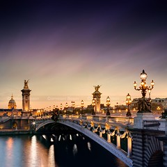Pont Alexandre III, Paris (Beboy_photographies) Tags: 3 paris france trois seine canon lumire iii invalides pont 5d soir alexandre crpuscule nuit hdr lesinvalides fleuve saariysqualitypictures