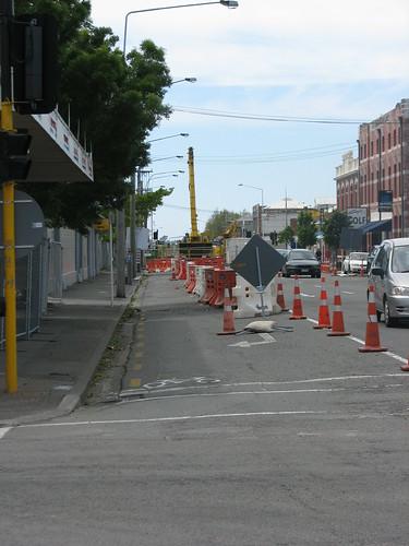 Temporary Bike Lane on St Asaph Street