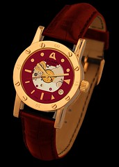 Louann Transparent (Loukas Mainas Industrial Design) Tags: pink white yellow greek gold mechanical watches handmade wristwatch transparent limited edition louann 18k loukas balancier mainas
