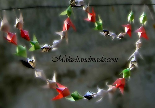 paper nut horn garland tutorial