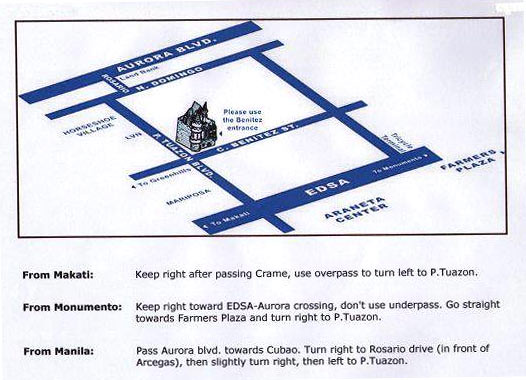 Map to Chocolate Lover in P. Tuazon