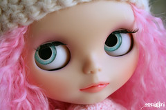 Good morning! ;) (soulgirl) Tags: doll dolls mohair blythe custom blythedoll customization blythedolls soulgirl blythecustom pinkmohair handpaintedeyechips soulgirlcustom