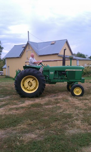 dale on mike's new tractor