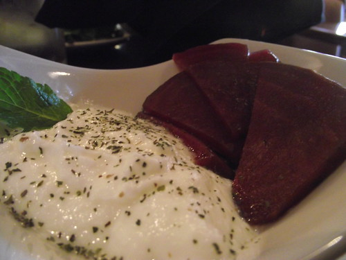 yogurt and beets @ sufi's