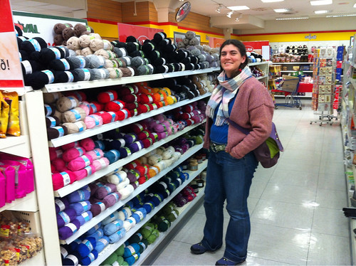 Yarn in the supermarket!