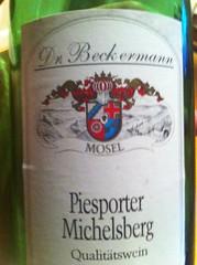 2010 Dr. Beckermann Piesporter Michelsberg Riesling Spatlese