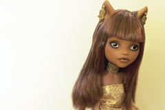 Gilded (Hiritai) Tags: monster high wolf dolls custom mh repaint repainted clawdeen