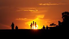 #850C4866- Sunset bathing II (Zoemies...) Tags: sunset beach colors silhouette bathing balikpapan melawai zoemies