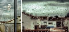 Sad Rainy Day (ISO_200) Tags: windows cloud house water glass rain vidro canon iso200 drops diptych sad chuva sigma neighborhood rainy casas lvm dptico canoneos40d lavueltaalmundo pedrovilla