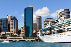 (jaroslavd) Tags: skyline sydney australia circularquay cruiseship royalcaribbean oceanliner rhapsodyoftheseas