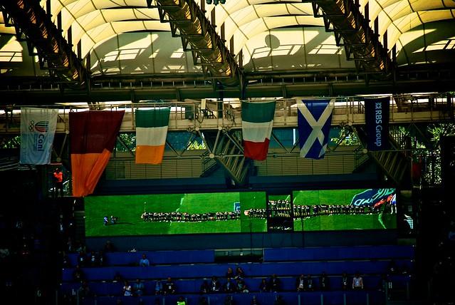 Bandiere e riflessi di Scozia