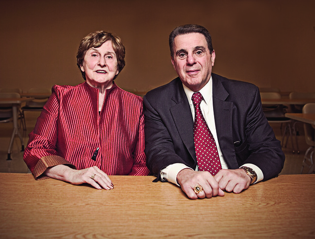 Dr. Audrey Doberstein (left) and Dr. Jack Varsalona. Photo courtesy of Delaware Today. Photographer credit: Jared Castaldi.