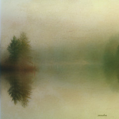 .... fog on the lake .... (xandram) Tags: morning lake fog photoshop textures minimalism impressedbeauty tatot lakemonomonack