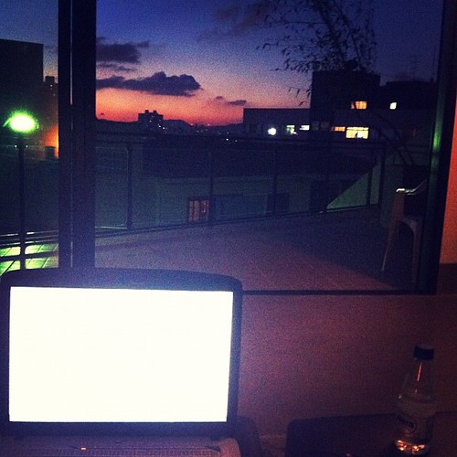 Working with sunset