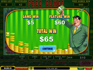 free Mr. Cashback slot free spins prize