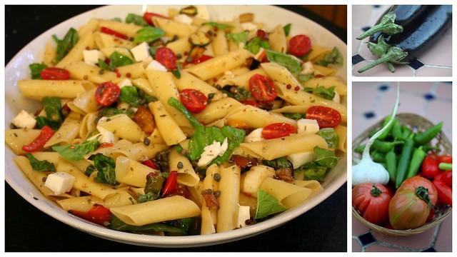 end of summer pasta salad