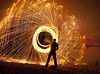 sparks (Kriegaffe 9) Tags: longexposure light lightpainting nikon tunnel explore poi sparks odc wirewool d90 18105vr ourdailychallenge
