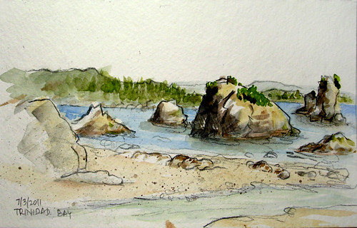 Trinidad Bay, CA sketch