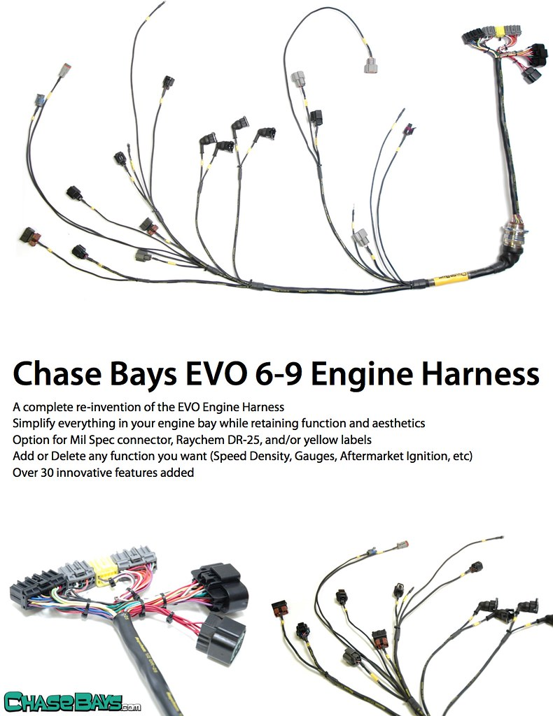 Mitsubishi 2 4 Engine Wiring Harness Chase Bays Assaultechcom Evolutionm Made With Brand New Wire And Pins No Solders Replacement