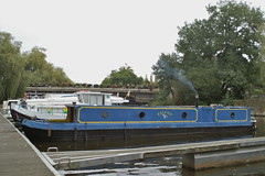 Time for a smoke (lower_incer) Tags: canals falcon narrowboat waterways moorings woodburningstove lagacilly frenchcanals tourismefluvial frenchwaterways canalnantesabrest brittanycanals riverlaff nbfalcon narrowboatfalcon
