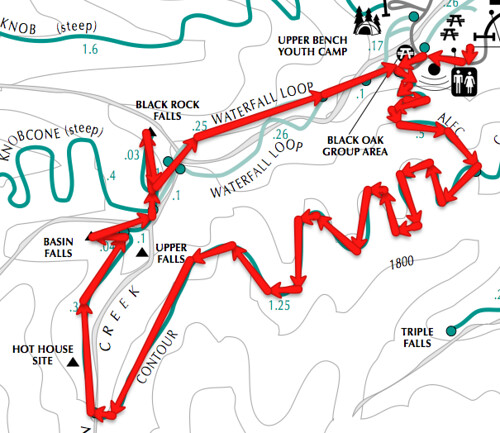 Uvas Canyon hike map