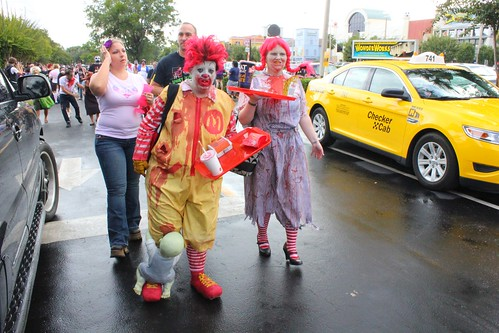 Zombie Ronald McDonald and Wendy