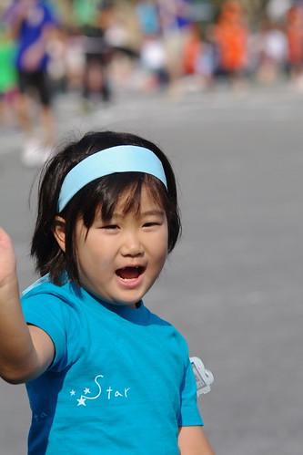 親も子も幼稚園最後の運動会