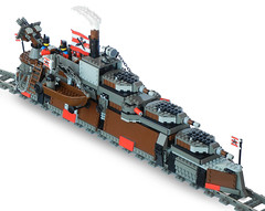 Armada-Class Heavy Steam Railship Mk. LXVI (front) (aillery) Tags: train war lego military great rail armada steam imperial locomotive battleship armored steampunk dreadnought railship