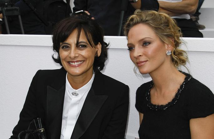 Chanel SS12 Front Row Ines de la Fressange Uma Thurman