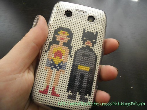 Cross-stitched Cell Phone Case